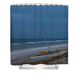 No Sailing Today Shower Curtain by DigiArt Diaries by Vicky B Fuller