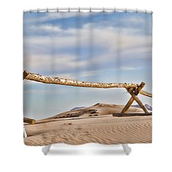 No Trespassing Shower Curtain by Heather Applegate