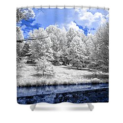 Nobob Pond Ir Shower Curtain by Amber Flowers