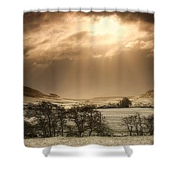 North Yorkshire, England Sun Shining Shower Curtain by John Short