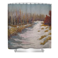 Northern Alberta Vista Shower Curtain by Mohamed Hirji