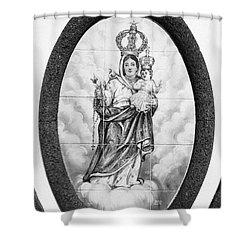 Nossa Senhora Da Paz Shower Curtain by Gaspar Avila