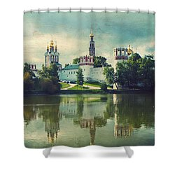Novodevichy Convent. Moscow Russia Shower Curtain by Juli Scalzi