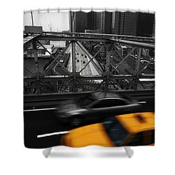 Nyc Yellow Cab Shower Curtain by Hannes Cmarits