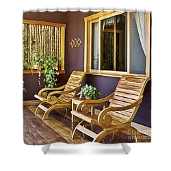 Oasis Of Calm Shower Curtain by Heiko Koehrer-Wagner