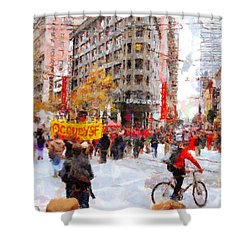 Occupy Sf Market Street . 7d9733 Shower Curtain by Wingsdomain Art and Photography