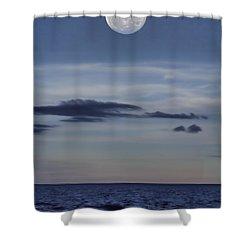 Ocean Moon Shower Curtain by Douglas Barnard