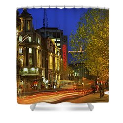 Oconnell Street Bridge, Dublin, Co Shower Curtain by The Irish Image Collection
