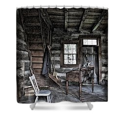 Ohio Cabin Shower Curtain by Joan  Minchak