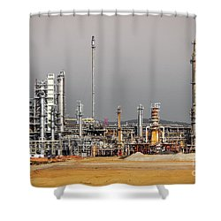 Oil Refinery Shower Curtain by Carlos Caetano