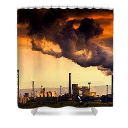 Oil Refinery Shower Curtain by John Short