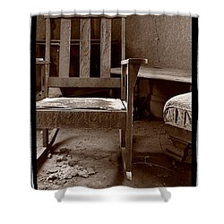 Old Chair Bodie California Shower Curtain by Steve Gadomski
