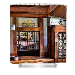 Old Fashion Post Office Shower Curtain by Paul Ward