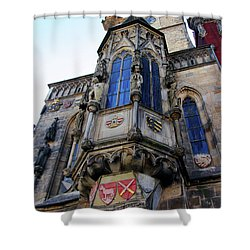 Old Town City Hall Shower Curtain by Mariola Bitner