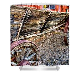 Old Wagon Shower Curtain by Jon Berghoff