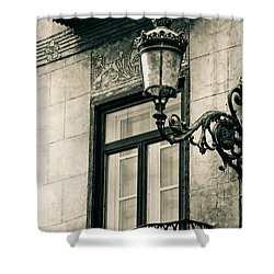 Old Window Lamp Shower Curtain by Syed Aqueel