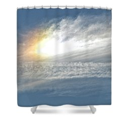 On High Shower Curtain by Barbara Middleton