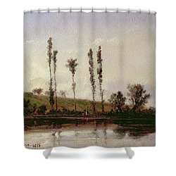On The Outskirts Of Paris Shower Curtain by Camille Pissarro