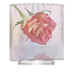 One Drop Of Love Shower Curtain by John Edwards