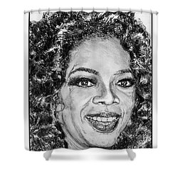 Oprah Winfrey In 2007 Shower Curtain by J McCombie