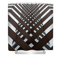 Optical Illusion Shower Curtain by Keith Allen