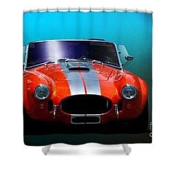 Orange Cobra Shower Curtain by Stuart Row