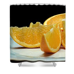 Orange Slices Shower Curtain by Andee Design