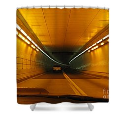 Orange Tunnel In Dc Shower Curtain by Ausra Huntington nee Paulauskaite