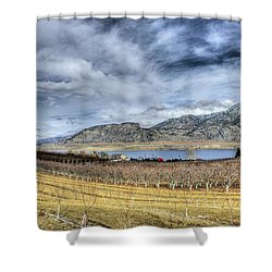 Orchards And Vineyards Shower Curtain by John  Greaves