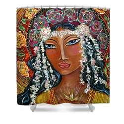 Our Lady Of Lost Causes Shower Curtain by Maya Telford