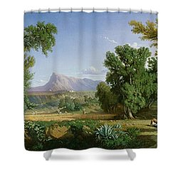 Outskirts Of Valdemusa Shower Curtain by Adolphe Paul Emile Balfourier