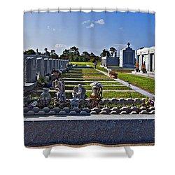 Overkill Shower Curtain by Steve Harrington