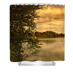 Overlooking The Lake Shower Curtain by Jutta Maria Pusl