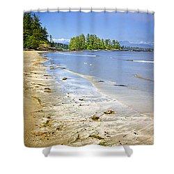 Pacific Ocean Coast On Vancouver Island Shower Curtain by Elena Elisseeva