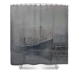 Pacific Trader Shower Curtain by Christopher Jenkins