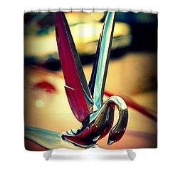 Packard Swan 2 Shower Curtain by Susanne Van Hulst