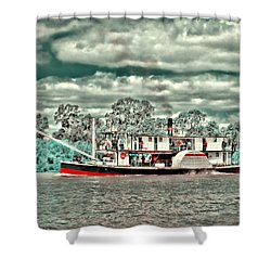 Paddle Steamer Shower Curtain by Douglas Barnard
