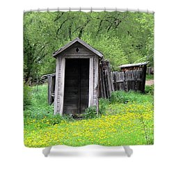 Pail Closet Virginia City Shower Curtain by Thomas Woolworth