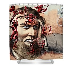 Pain Shower Curtain by Omikron and Photo Researchers