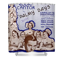 Palmy Days Shower Curtain by Mel Thompson