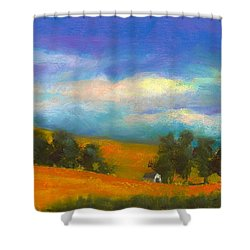 Palouse Wheat Fields Shower Curtain by David Patterson