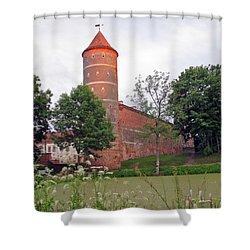 Panemunes Castle. Lithuania. Shower Curtain by Ausra Huntington nee Paulauskaite