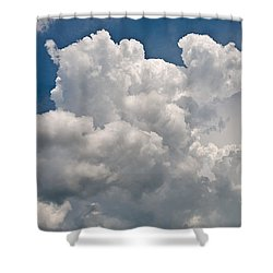 Panoramic Clouds Number 1 Shower Curtain by Steve Gadomski
