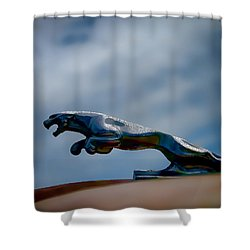 Panther Hoodie Shower Curtain by Douglas Pittman
