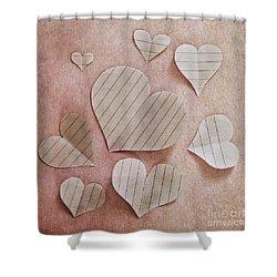 Papier D'amour Shower Curtain by Priska Wettstein