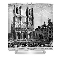 Paris: Notre Dame, 1790 Shower Curtain by Granger