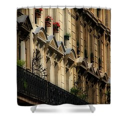 Paris Windows Shower Curtain by Andrew Fare