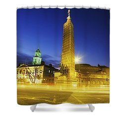 Parnell Square, Dublin, Ireland Parnell Shower Curtain by The Irish Image Collection