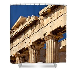 Parthenon Shower Curtain by Brian Jannsen