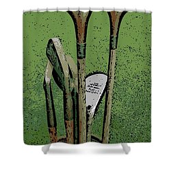 Pass Me The Hickory Shower Curtain by George Pedro